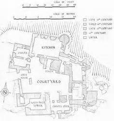 hever castle floor plan diagram showing the phases of building at carrickfergus