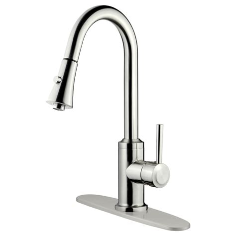 lk11b pull out kitchen faucet brushed nickel finish