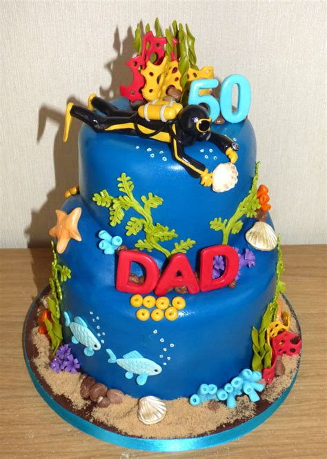 themed birthday cakes diving inspired underwater themed birthday cake 171 susie s