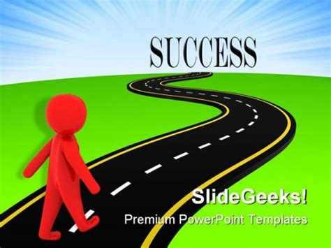 ppt templates for highway images of road to success road to success metaphor