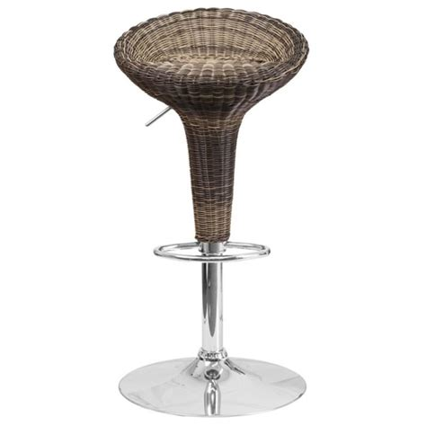 dining barstools backless adjustable and more wicker backless adjustable bar stool in brown ds 711 gg