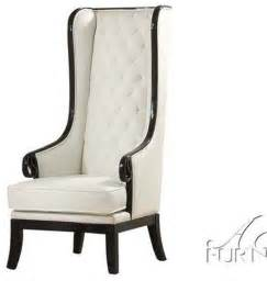 high back wing armchairs acme furniture parr black white high back accent wing