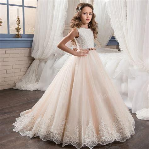 prom dress children white flower girls dresses for wedding