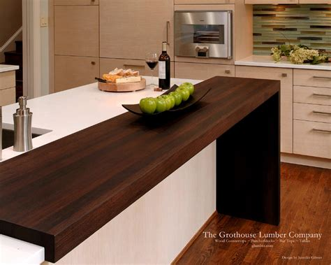 Kitchen Countertop Bar by Wenge Wood Countertop By Grothouse