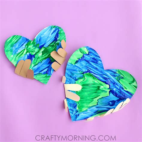 earth crafts for handprint earth day craft for crafty morning