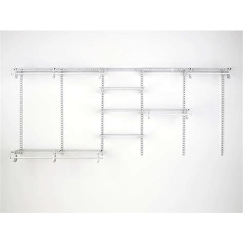 shop closetmaid 7 ft to 10 ft white adjustable mount wire
