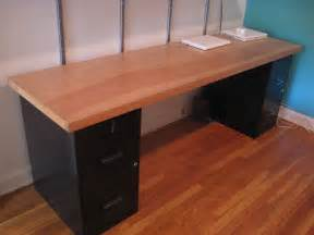 Desk With File Cabinet Solid Wood Door Desk 24 X 84 Quot Desk Top 30 Metal Filing Flickr