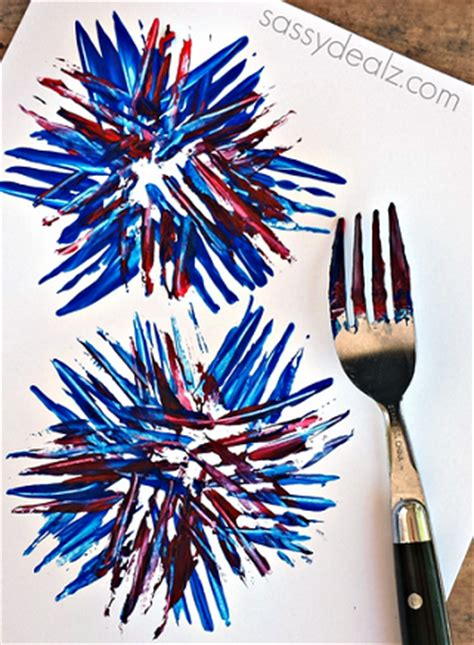 fireworks crafts fireworks craft using a fork crafty morning
