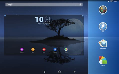 google themes luna luna blu theme for xperia android apps on google play