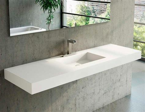 lavabo a medida en corian square ba241os de autor