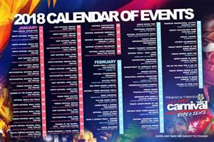 And Tobago Calendã 2018 Tobago 2018 Carnival Calendar Of Events