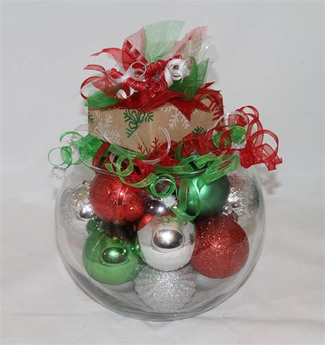 christmas centerpiece red green and white holiday decor