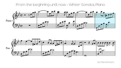 tutorial piano winter sonata from the beginning until now winter sonata piano solo