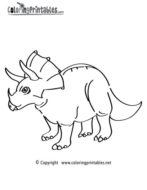 free coloring pages of triceratops