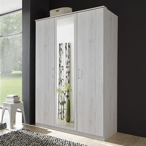 White Mirrored Wardrobes Uk by Octavia Mirror Wardrobe White Oak 3 Bedroom Stuff