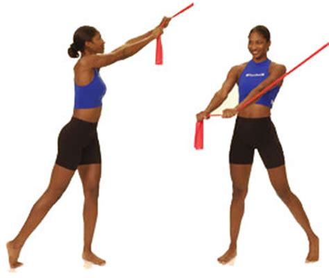 thera band trunk quot chop quot performance health