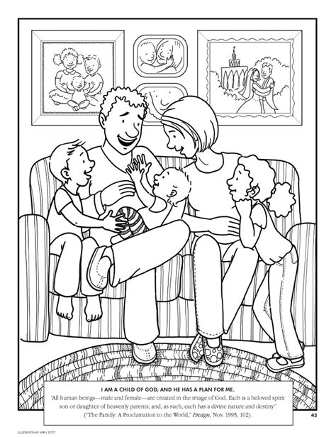 Loving Family Coloring Page | lesson 11 i love my family lds lesson ideas