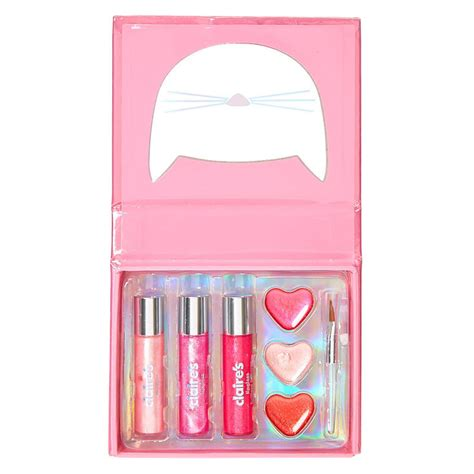 Pink Cat Set cut out pink cat lip gloss booklet set s us