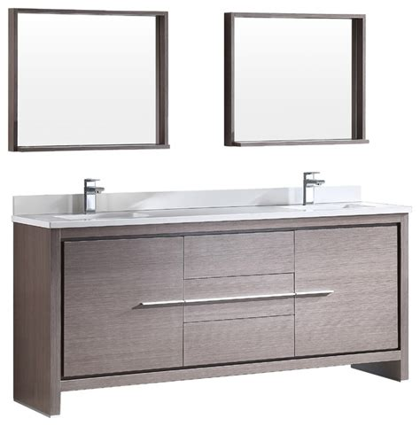 Fresca Allier 72 Quot Modern Double Sink Bathroom Vanity With