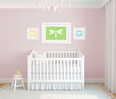 Dragonfly Nursery Decor Bedroom Enchanting White Chandelier Inside Spacious Dragonfly Baby Nursery With White Crib And