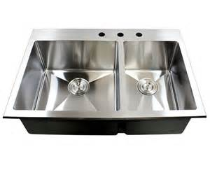 stainless steel sinks top mount 33 inch top mount drop in stainless steel bowl