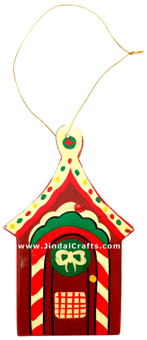 Handcrafted Ornaments - handcrafted handpainted wood hanging ornament