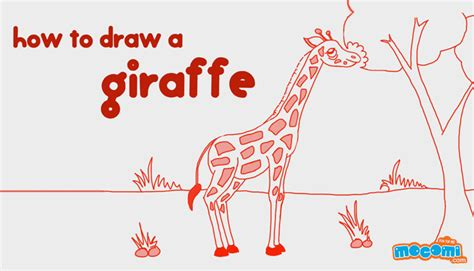 how to draw a giraffe doodle how to draw a giraffe drawing for mocomi
