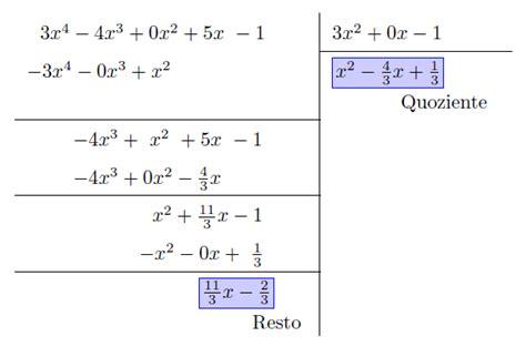 test scomposizione polinomi divisione polinomi test ammissione universit 224