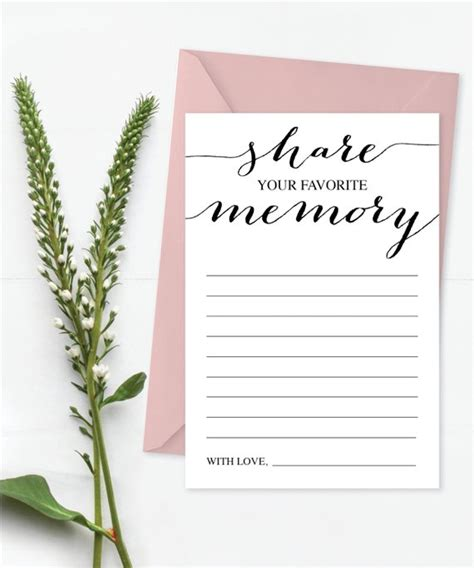 printable memory card template a memory card favorite memory memorial card