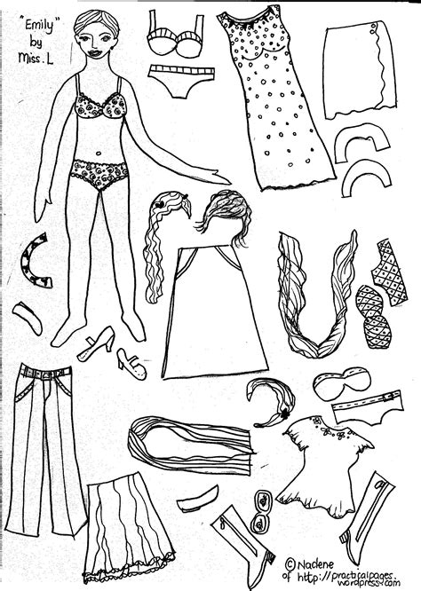 How To Make Cut Out Paper Dolls - paper dolls practical pages