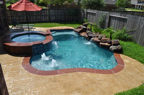 small pools and spas this small pool and spa in katy tx houston tx features