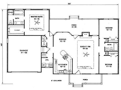 master suite floor plans isolated master suite 3414vl 1st floor master suite country farmhouse pdf split bedrooms