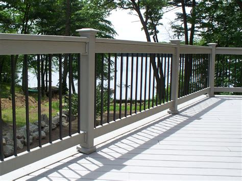banister options michigan deck railing contractor autumnwoodconstruction