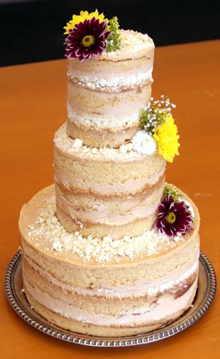 Wedding Cake No Icing by Un Covered Cake No Fondant No Frosting Start A Cake