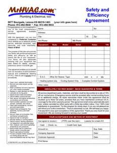Hvac Maintenance Agreement Template by Service Maintenance Agreements Mr Hvac Software And