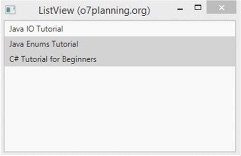 tutorial java enum javafx listview tutorial