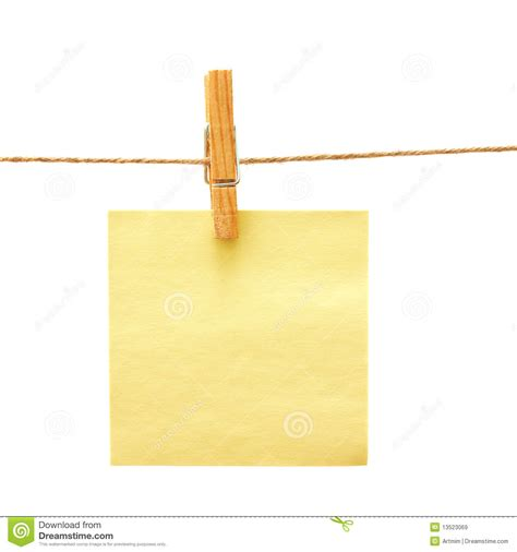 Paper Peg paper with clothes peg white royalty free stock