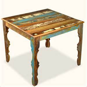 Wood distressed rustic 36 quot square dining table furniture ebay