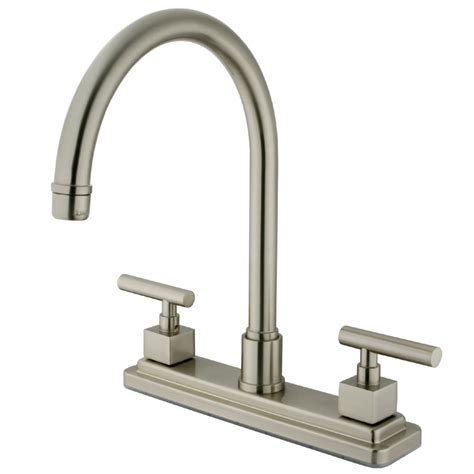 kingston kitchen faucets kingston brass ks8798cqlls claremont 8 quot centerset kitchen