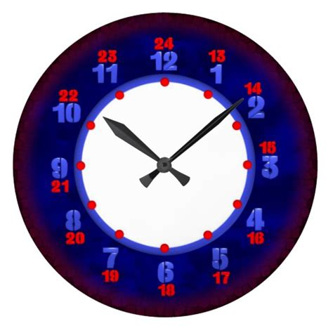printable military clock face 24 hour military time clock template zazzle