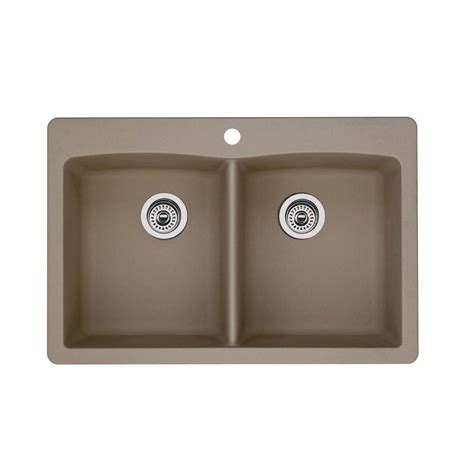 home depot kitchen sinks drop in blanco dual drop in undermount composite 33 in 1
