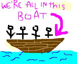we re all in the same boat we re all in the same boat