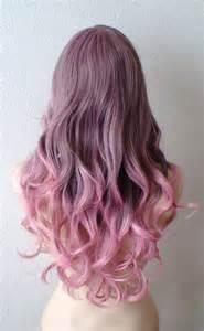 brown pink ombre wig pastel pink wig light brown