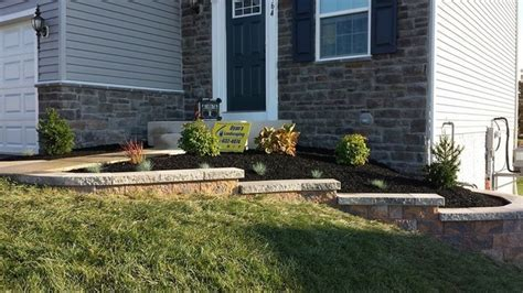 front yard retaining wall ideas hanover front yard ideas nicolock retaining wall
