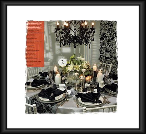 black and white table setting black and white wedding table setting