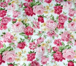 shabby chic rose cotton fabric white twill fabrics pink