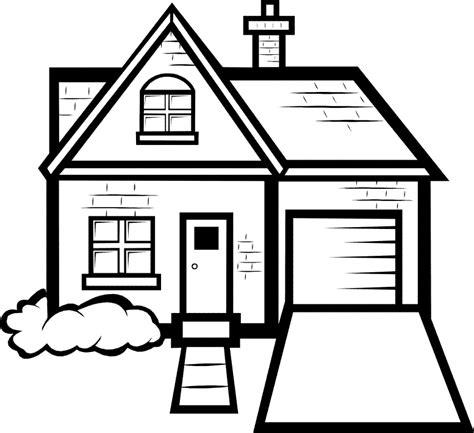 a coloring page of a house house coloring pages only coloring pages