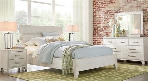 bedroom set white color crestwood creek off white 5 pc queen panel bedroom queen