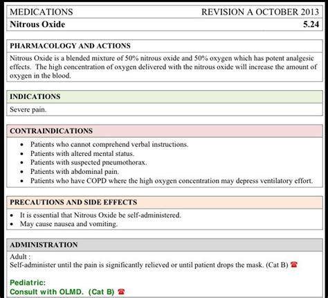 medication card template for nursing students nitrous oxide administration card pharmacology