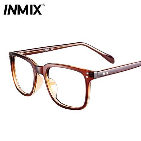 eyeglasses frames for black big inmix box myopia